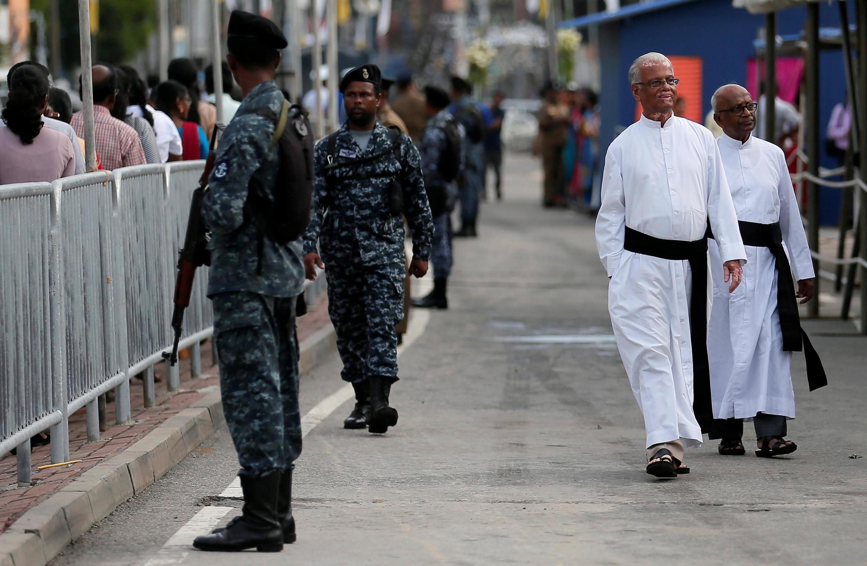 Le sanctuaire Saint-Antoine, frappé par le terrorisme cette année, et désormais sous étroite surveillance. Colombo, le 12 juin 2019.