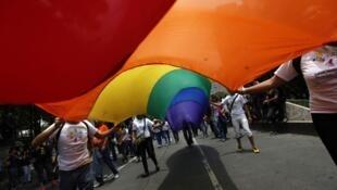 Manifestaion de la communauté des gays et lesbiennes à  Nairobi au Kenya.
