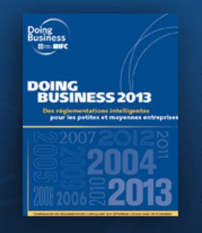 Couverture du rapport «Doing Business», edition 2013.