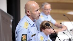 Le directeur de la police Oystein Maeland lors d'une conférence de presse le 13 août 2012.