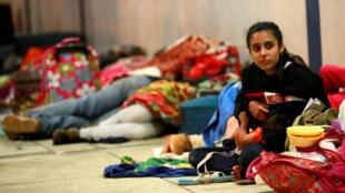 Di dân Venezuela tại Tumbes, Peru, sát với biên giới Ecuador. Ảnh 25/08/2018.