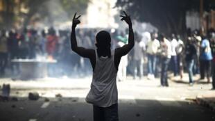 Manifestation à Dakar le 23 juin 2011 contre le projet de réforme constitutionnelle du gouvernement.