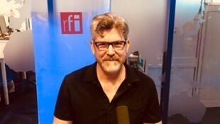 L'écrivain américain Laird Hunt en studio à RFI (juin 2019).