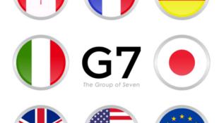 七国集团成员国及欧盟旗帜标志
