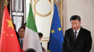 Le président chinois Xi Jinping au palais Quirinal de Rome, le 22 mars 2019.