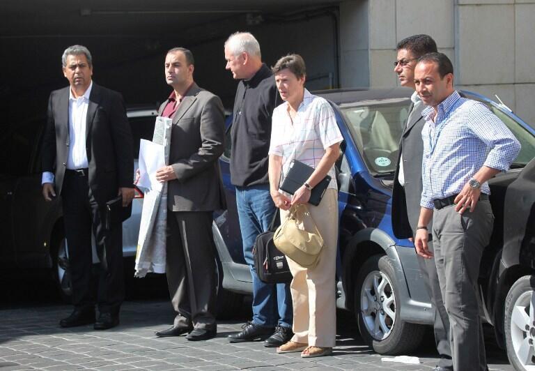 Angela Kane và Ake Sellstrom trong phái bộ chuyên gia LHQ kết thúc nhịêm vụ và chuẩn bị rời Syria - AFP