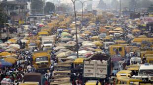 Vue de Lagos, au Nigeria, le 6 février 2006.