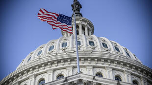 美国国会大楼穹顶外眺