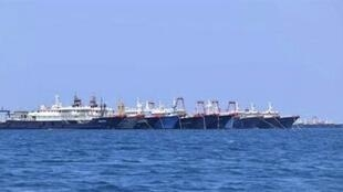 菲律宾日前指220艘中国海上民兵船一齐现身南海。