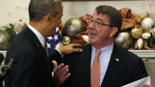 Tổng thống Mỹ Barack Obama đã đề cử ông Ashton Carter làm tân Bộ trưởng Quốc phòng Mỹ ngày 05/12/2014. Cả hai đều muốn thúc đẩy chính sách xoay trục qua Châu Á.