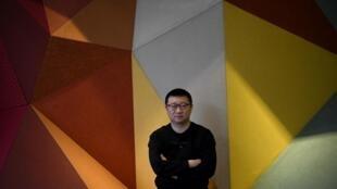 Ma Baoli, presidente da BlueCity, na sede do aplicativo em Pequim, em 10 de dezembro de 2020.