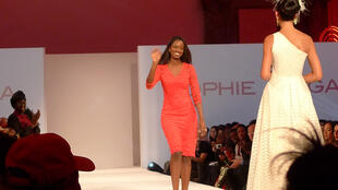 Senegalese designer Sophie Zinga Sy wearing one of her design