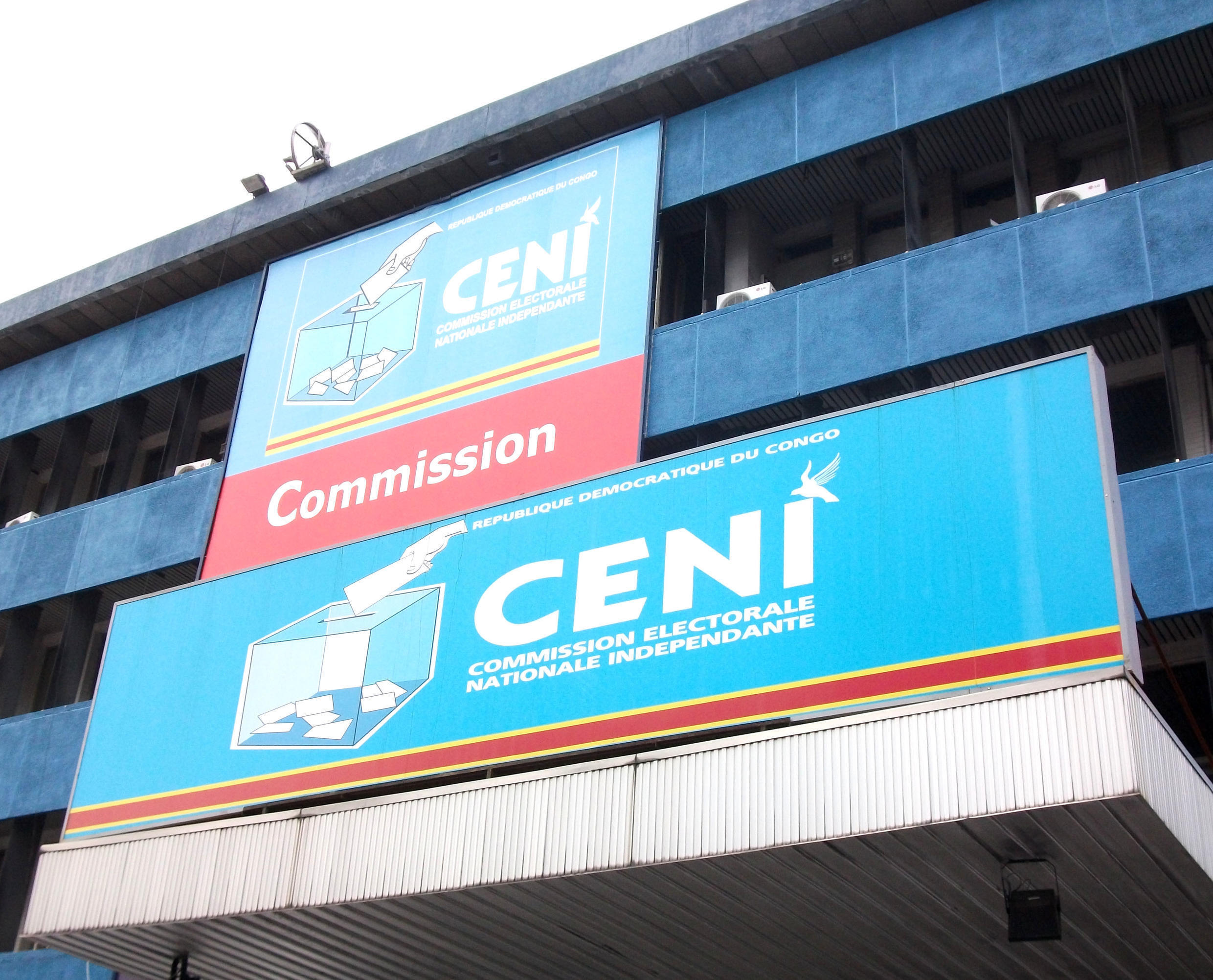 The DRC's electoral commission (Ceni) in Kinshasa