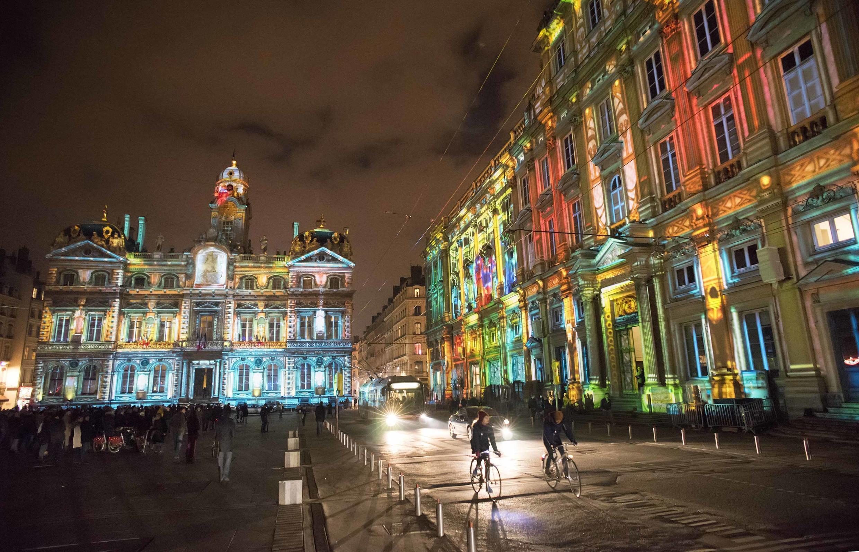 Uma das instalações da 15ª Festa das Luzes de Lyon, que será realizada de 6 a 9 de dezembro.