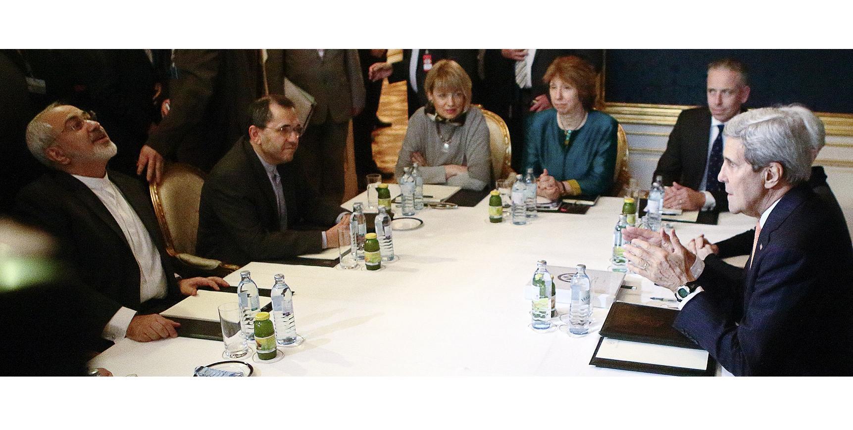 Мохаммед Джавад Зариф, Джон Керри и Кэтрин Эштон на переговорах в Вене 21/11/2014
