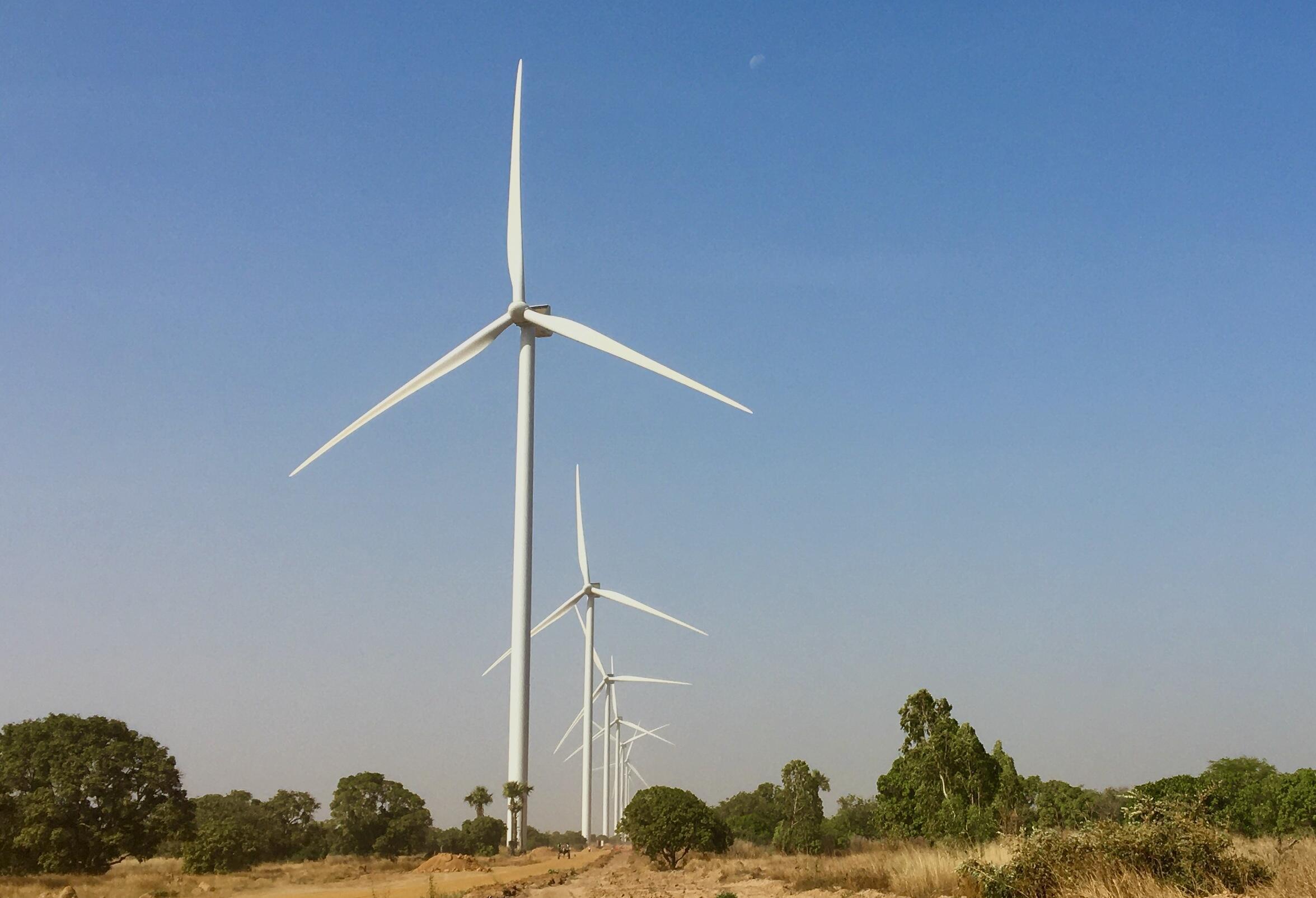 Parque eólico de Taiba Ndiaye é o primeiro do gênero no Senegal.