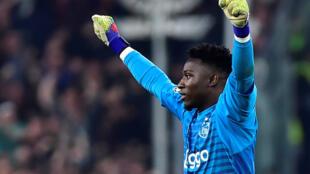 Le gardien de but camerounais de l'Ajax Amsterdam, André Onana.