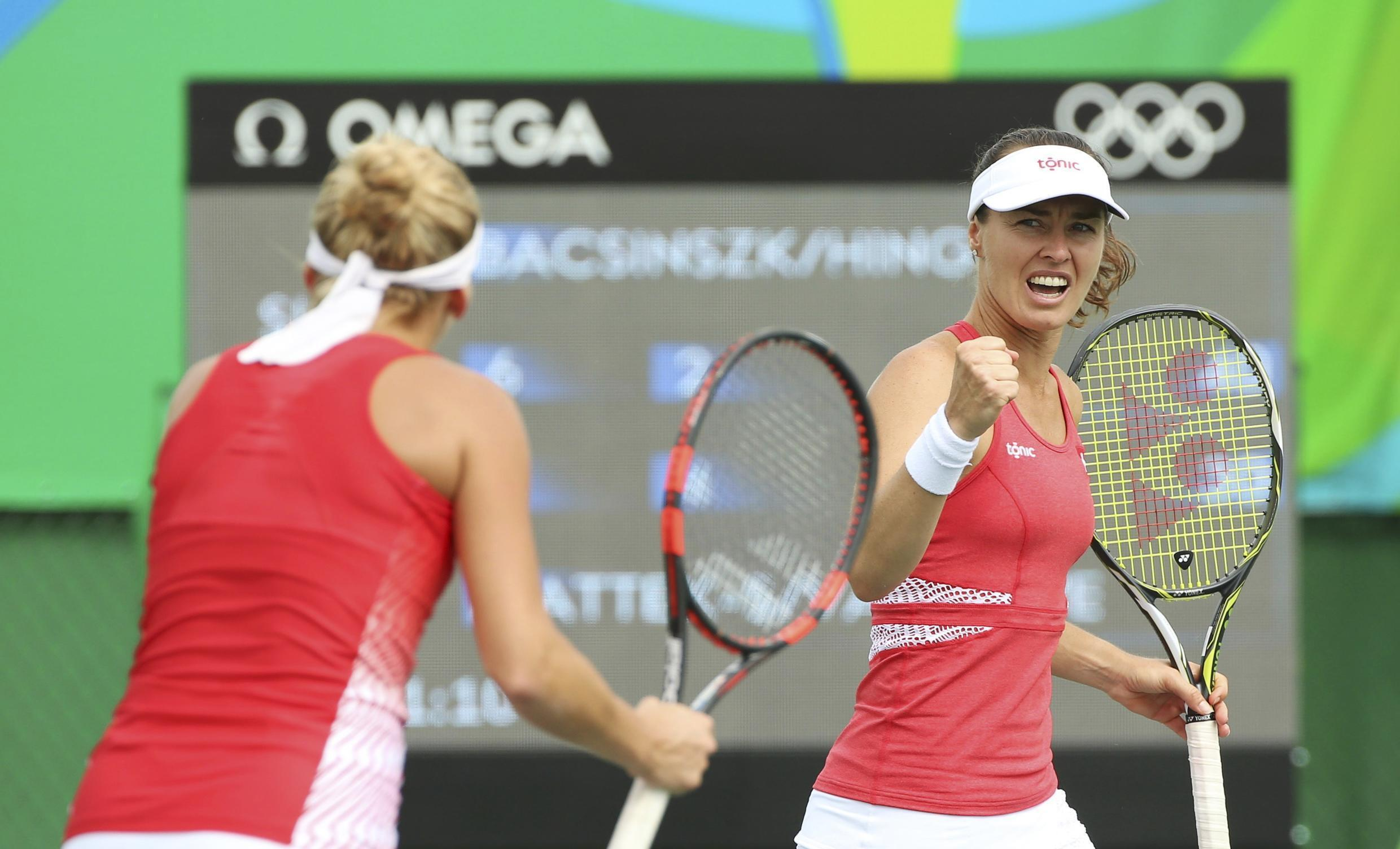 Martina Hingis (right) in action at the Rio Olympics. Hingis and Sania Mirza ended their doubles partnership.