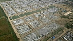 Une vue aérienne du camp de déplacés de Bentiu, au Soudan du Sud.