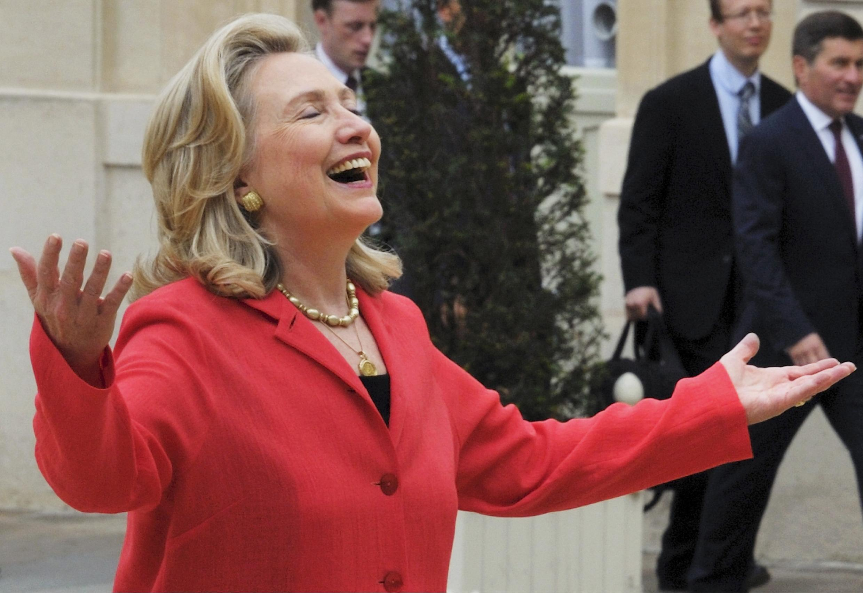 Госсекретарь США Хиллари Клинтон на конференции по Ливии в Париже 01/09/2011