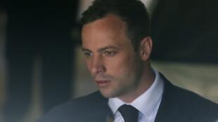Oscar Pistorius, em foto do último dia de seu julgamento, em Pretória
