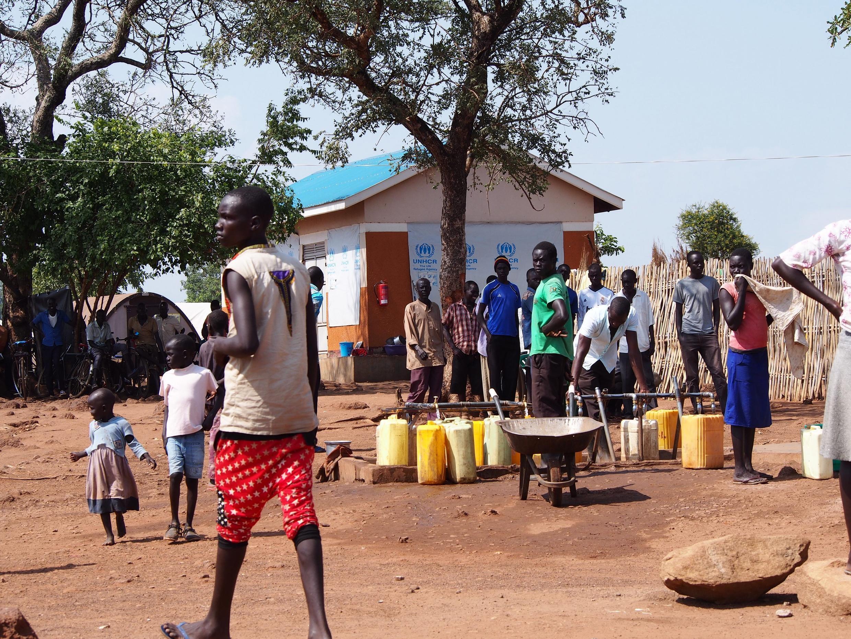 La reprise du conflit entre Riek Machar et Salva Kiir en juillet continue à faire rage, créant un afflux incessant de réfugiés, ici dans le camp d'Adjumani, dans le nord de l'Ouganda, près de la frontière avec le Soudan du Sud, le 29 août 2016.