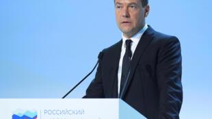 Премьер-министр России Дмитрий Медведев на Российском инвестиционном форуме в Сочи, 27 февраля 2017.