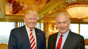 Donald Trump e Benyamin Netanyahu encontraram-se em Nova York em 25 de setembro 2016.