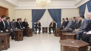 Shugaban Syria, Bashar al-Assad yana ganawa da wakilan kasar Algeria