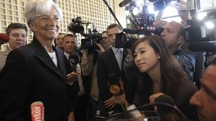 Christine Lagarde after announcing her candidacy