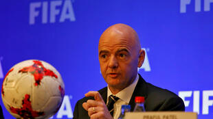 FIFA President Gianni Infantino in Calcutta, October 27 2017