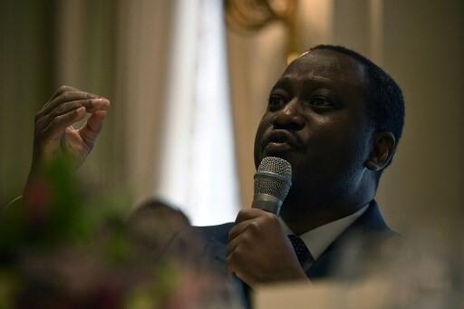Kiongozi wa zamani wa waasi na Waziri Mkuu wa zamani Guillaume Soro, kwenye mkutano na waandishi wa habari, Januari 28, 2020 huko Paris. (picha ya kumbukumbu)
