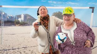 Senhorinhas francesas na praia de Copacabana? Não, a foto foi tirada na França mesmo. A brincadeira é uma das atrações do evento Paris Plages 2014, que começa neste final de semana na capital francesa.