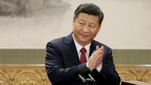 中國主席習近平在北京人大會堂 2017年10月25日