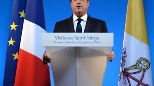 Франсуа Олланд, Рим, пресс-конференция после визита к папе Римскому Франциску