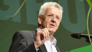 Winfried Kretschmann, président du groupe Alliance 90 / Les Verts au Landtag du Bade-Wurtemberg, le 26 juin 2010