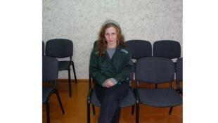 Мария Алехина в кабинете начальника пермской колонии