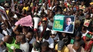Wata zanga-zangar kungiyar 'yan Biafra masu fafutukar ballewa daga Najeriya.