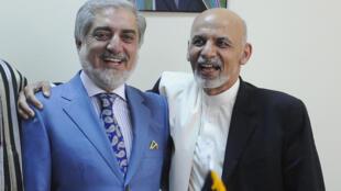 اشرف غنی و عبدالله عبدالله