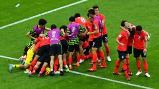 世界盃小組賽韓國勝德國卻未能晉級八分之一賽2018年6月27日