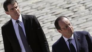 French President François Hollande and Prime Minister Manuel Valls.
