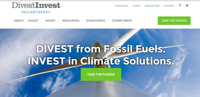 Trang mạng của sáng kiến thoái vốn khỏi năng lượng hóa thạch, để đầu tư cho năng lượng sạch.