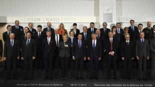 Министры обороны стран НАТО после встречи в Брюсселе, 26 февраля 2014