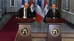Outre le roi jordanien, le ministre français des Affaires étrangères Jean-Yves Le Drian a également rencontré ce lundi 14 janvier 2019 les dirigeants irakiens à Bagdad.