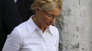 Yulia Tymoshenko arrives at court last Friday