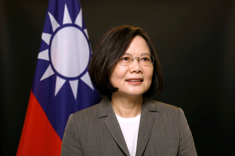 Tổng thống Đài Loan Thái Anh Văn (Tsai Ing-wen) trong một cuộc trả lời phỏng vấn của Reuters tại dinh tổng thống, Đài Bắc, ngày 27/04/2017.