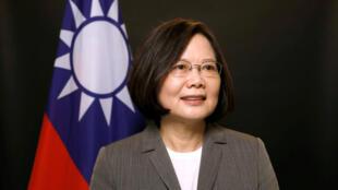 資料圖片:台灣中華民國總統蔡英文。2017年4月27日攝於台灣。
