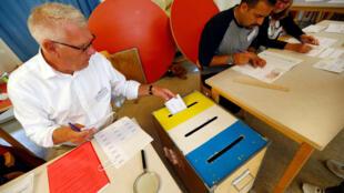 Избирательный участок в Стокгольме, 9 сентября 2018 г.