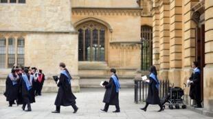 英國牛津大學學生資料圖片