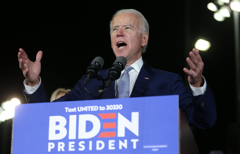 Ứng viên đảng Dân Chủ Joe Biden phát biểu trong chiến dịch vận động tại Baldwin Hills Recreation Center, Los Angeles, California, Hoa Kỳ, ngày 03/03/2020